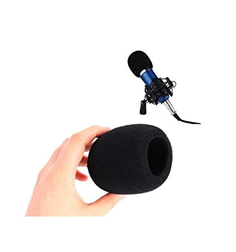 Gwill 20Pcs schwarze Farbe Hand-Bühne Ball Form Mikrofon Windschutzscheibe Schaum Mic Cover Karaoke DJ weichen Schwamm Cap Pop Filter Wind Shield (Mic Cover-schaum)
