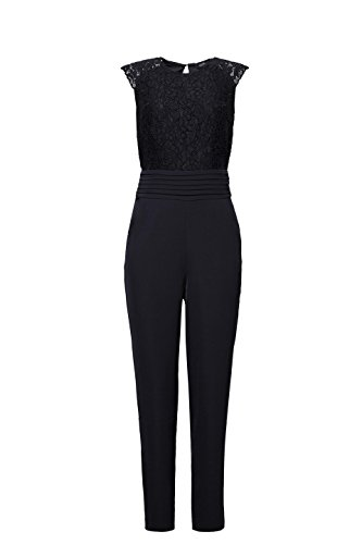 ESPRIT Collection Damen Jumpsuit 117EO1L003, Schwarz (Black 001), 34 - 3