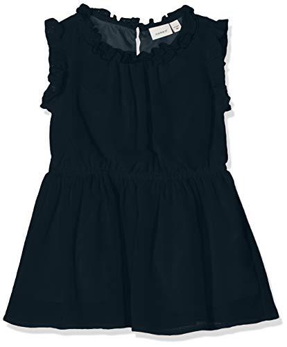 NAME IT Baby-Mädchen NMFVILUSI CAPSL DRESS H Kleid, Blau (Dark Sapphire), (Herstellergröße: 92)