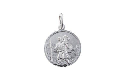 925-argent-sterling-de-taille-diamant-st-medaille-saint-christophe-pendentif-bu0171-14-mm