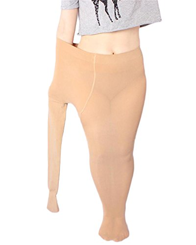 Grosse femme Leggings Compression Mince Stretch Haute taille Pantalon Nude_LJ