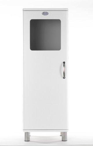 Tenzo 5111-005 Malibu - Designer Halbvitrine 143 x 50 x 41 cm, MDF lackiert, weiß