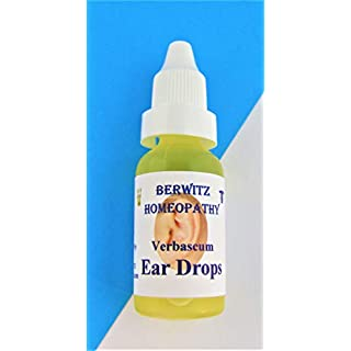 Verbascum Homeopathy Ear Drops by Berwitz Homeopathy - for Adults and Children. Easy to use Dropper Bottle - Soothes and Clears Hardened and Stubborn Ear Wax. 15ml