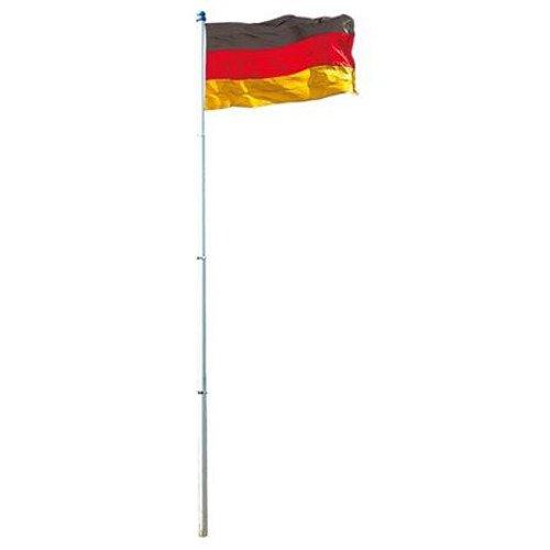 Buri Deutschlandfahne 150x90cm mit Alumast 6m Fahnenmast Fahne Flagge Fussball