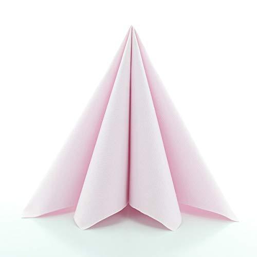 Sovie HORECA Airlaid-Servietten 40x40 cm | hochwertige Einweg-Servietten | extrem saugstark und stoffähnlich | ideal für Hochzeit & Partys | 50 Stück | Hell-Rosa