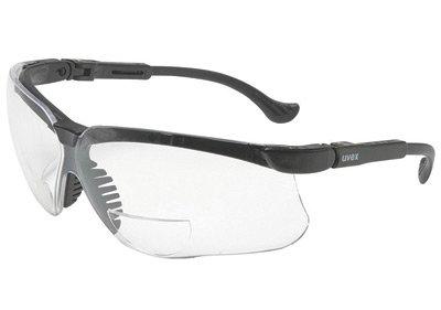 Uvex von Honeywell Genesis Leselupen 1.0Dioptrie Schutzbrille mit Schwarz Polycarbonat Rahmen und klar Polycarbonat ultra-dura Antiscratch Hard Coat Lens -