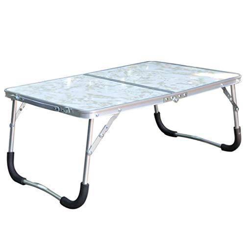 STEAM PANDA Tragbaren kleinen Tisch Faltbare Kinderschreibtisch 62x42x27.5cm Aluminiumrahmen und Bein + MDF-Platte -