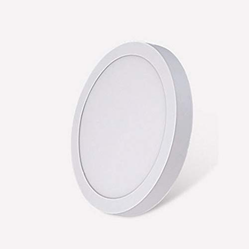 Yaione LED Runden Panel Licht 6W Satin Nickel Druckguss Aluminium Brandschutz Bad Anti Glare Einbau Slim Profile Decke Geeignet for Wohnzimmer Korridor Aluminium Bohrloch Größe: 120mm (Größe : 24W) -