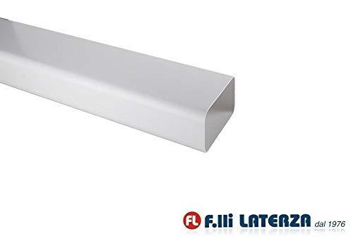 Tubo 120x60 mm lunghezza 1,5 ml per Aerazione Canalizzata Cappa Cucina in Pvc Colore Bianco