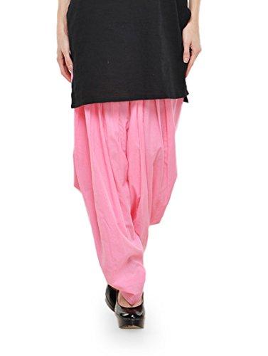 Stylenmart Baby Pink Pure Cotton Semi Patiala Salwar India