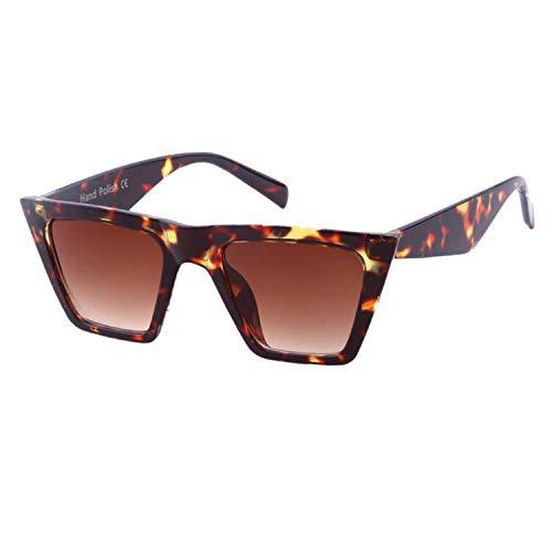 ADEWU Mode Damen Übergroße Sonnenbrille Vintage Cat Eye Retro Oversized Sunglasses Leopard