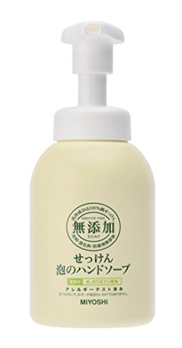 Miyoshi Soap | Hand Wash | Additive Free Soap Bubble Hand Soap Pump 350ml (japan import)