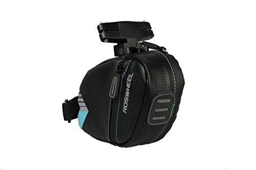 TOFERN Satteltasche Robust Wasserdicht Klettverschluss Mit Reflektorstreifen Fahrradtasche hellblau