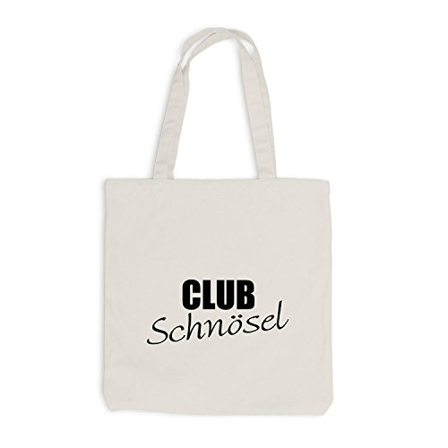 Jutebeutel - Club Schnösel - Party Fun Festival Style Disko Beige