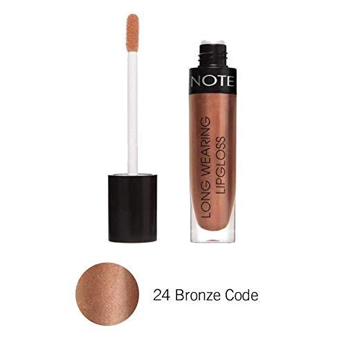 NOTE Cosmetics Long Wearing Lipglosse 24 Bronze Code Lon Glo - Glossy & Lange Andauernd (Long Lasting) 6 ml