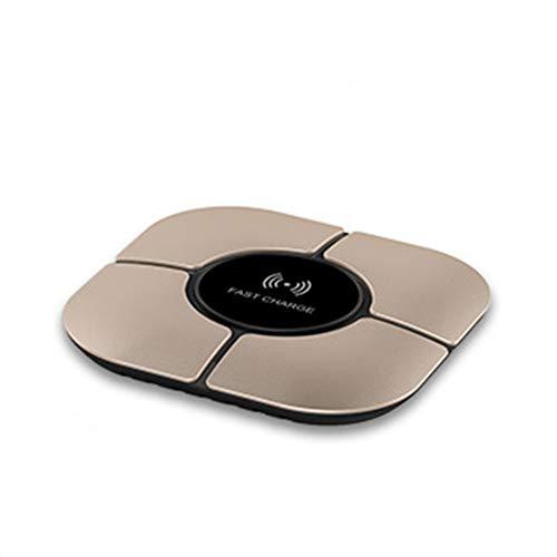 Wireless Ladestation 10W Fast Qi Charger Handy Ladegerät Kabellos Induktive Telefon Aufladen Kompatibel Samsung Galaxy S9/S8/S8 Plus/S7/S6 Edge/Note 8/Note 5 und Alle Qi-Fähige Geräte, Gold