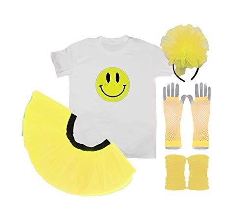 Ladies Acid House Raver Costume Set - XS to 3XL