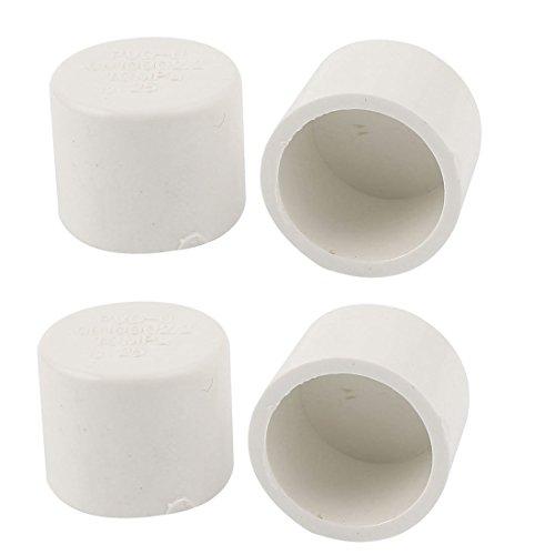 Preisvergleich Produktbild 25mm Innen-Ø Rundrohr Rohr Endkappen Leg Tipps Abdeckung 4pcs Weiß