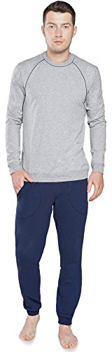 Italian Fashion IF Herren Schlafanzug IF180043 Melange/Navy