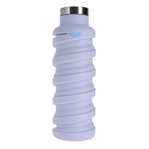 Que Bottles Que Collapsible Water Bottle Water Bottle 20 oz Glacier White (20 Oz-kunststoff-klar-cups)