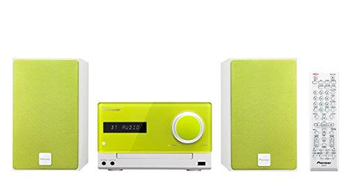 Pioneer X-CM35BT-N Micro Hifi-System (2x 15 Watt, Bluetooth, NFC, Front-USB, CD, Streaming App) limettengrün (Boss-bluetooth-sound-system)