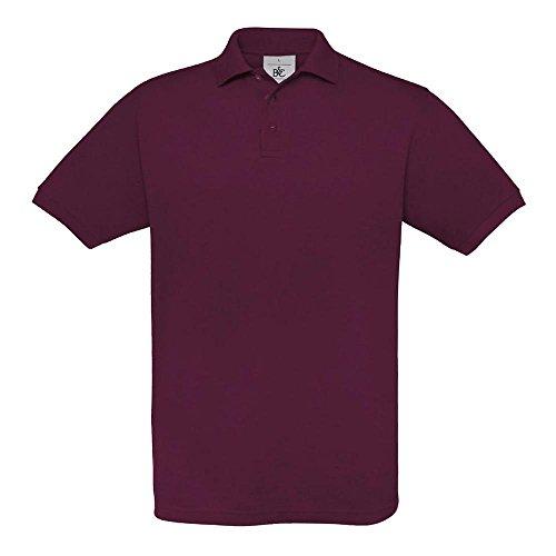 B&C - Piqué Poloshirt 'Safran' M,Burgundy