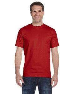 Hanes Men's TAGLESS® ComfortSoft® Crewneck T-Shirt XL Red - Tagless Crewneck Tee