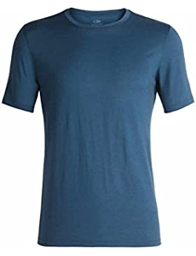 Icebreaker Tech Lite SS Crewe Camiseta, Prussian Blue, Medium