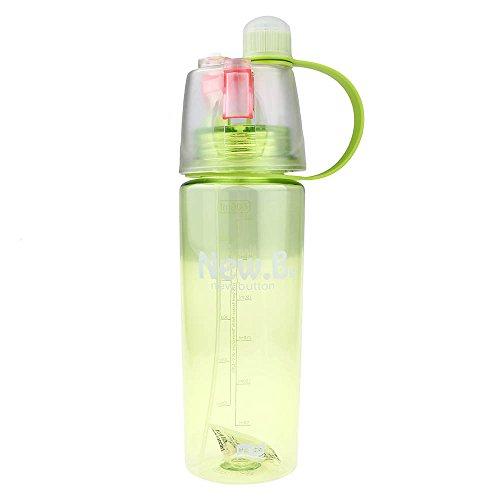 VANKER Botella de agua transparente transparente paja de deporte para