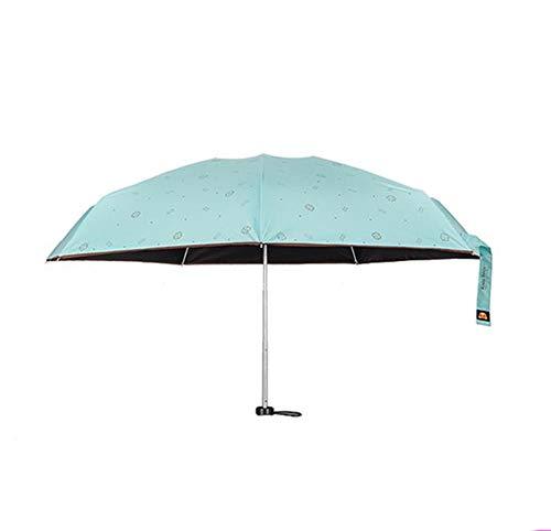 Parapluie Parapluie Protection Solaire Mini Parasol Ultra Léger Parasol Anti-UV pliable (Couleur : Bleu)