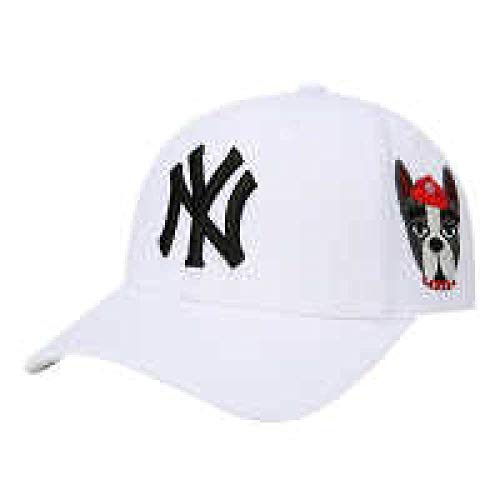 FDYHHRF Männer Und Frauen Arbeiten Stickerei-Baseballmütze 2018 Neue Yankees-Kappen-Männer Und Frauen-Geld-justierbare Sun Hat,White