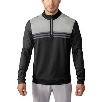 Adidas 1/4 Zip (Adidas 2016 Climacool® Colourblock 1/4 Zip Layering Top Mens Lightweight Golf Cover-Up Black XXL)