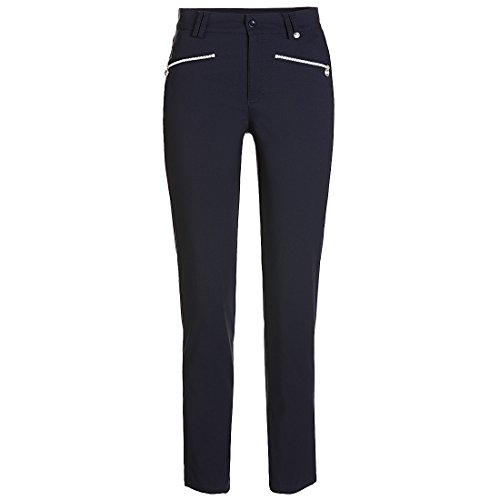 pantalon-funcional-de-golf-7-8-de-corte-ajustado-azul-s