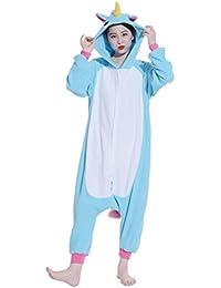 Fandecie animal cosplay ropa de dormir pijamas Nightclothes Loungewear del unicornio medio adecuado para el 160-175cm de altura