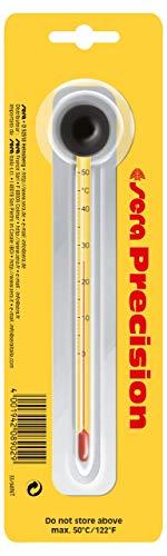 sera 08902Termómetro de Precisión, hochpräzises Cristal Termómetro, Escala de 0-50°C