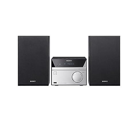 Sony CMT-SBT20B Micro-Systemanlage (Kompakte Design, CD, FM / DAB+ Tuner, RDS, USB-Eingang, Bluetooth, NFC)