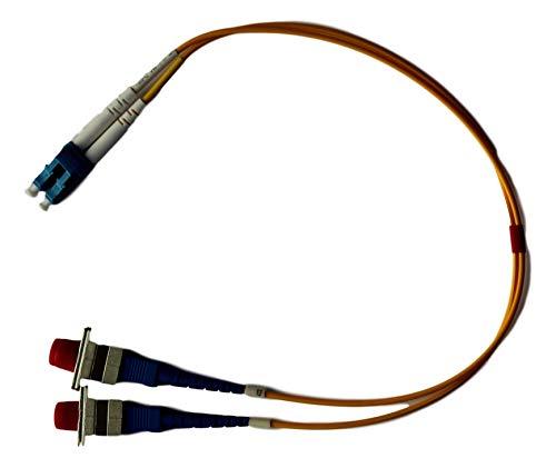 Ofnr Jacke (Optisches SNS Glasfaser-Adapterkabel (LC (männlich) auf FC weiblich, 1 ft Single Mode OS2 9/125 Duplex Hybrid-Adapter)
