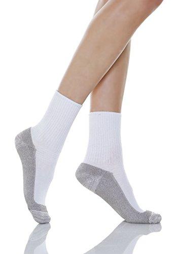 Relaxsan 550P (Blanco, Tg.4) Calcetines masajeadores para los diabéticos fibra de plata X-Static y plantilla de algodón