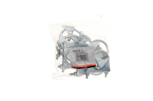 """Pearl PEC10 - Abrazaderas para tubo de escape (2 1/4"""", 10 unidades)"""