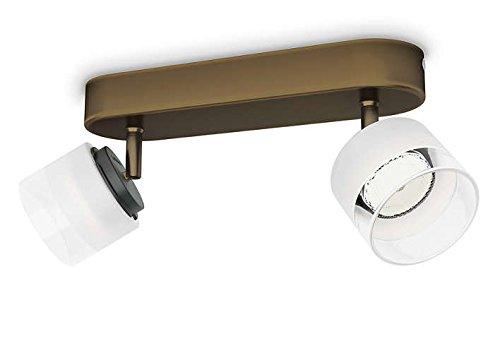 Philips myLiving Fremont - Barra de focos, LED, 2 luces, iluminación interior,...