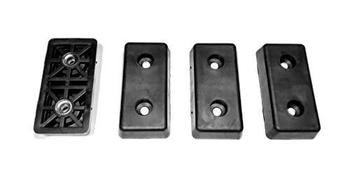 4mittelgroße rechteckige Gummifüße Stoßstangen-.390H x 2.022L x 1.005W-Made in USA (Global Furniture Usa)