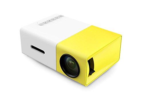 Ulbre Pico Mini-Beamer, LED, Mini-Projektor, Multimedia, Heimkino-Projektor/Taschenprojektor YG300 Jaune
