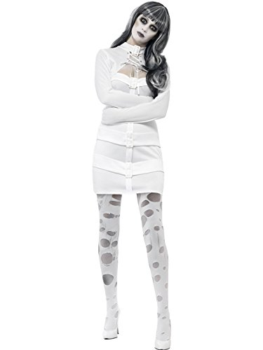 Halloween Psycho-Geister-Kostüm für Damen M (Zwangsjacke Kostüm Halloween)