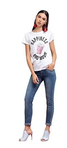 ARTIGLI T-Shirt Donna Mezza Manica con Stampa E Applicazioni