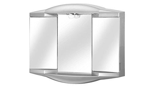 #JOKEY Spiegelschrank Chico GL Breite 62 cm, mit Beleuchtung aluminiumfarben#