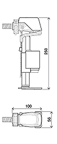 Euro Universal Füllventil für Aufputz oder UP-Spülkasten WC Vorwandelement