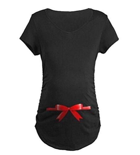 Binhee Kurzarm Umstands Shirts Für Damen Mit Blumenmuster