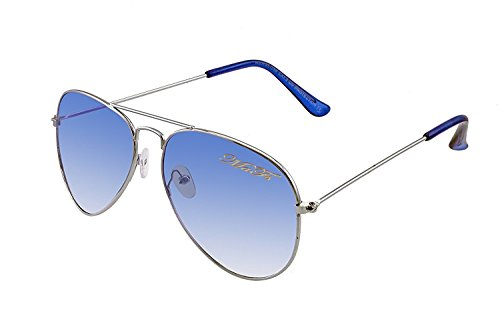 MaFs Classic Aviator for Unisex Sunglasses (DSC_057|Blue)