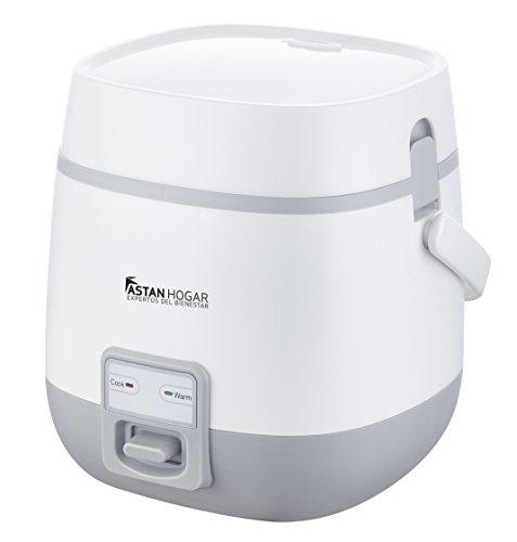 Olla Eléctrica Auto-Programable 1.2L con Tecnología Inteligente One-Touch & Termo Sensor de Cocción. #La Ollita. Cocina en cualquier lugar y mantiene caliente los alimentos. Incluye cucharón y vaso medidor (Blanco)