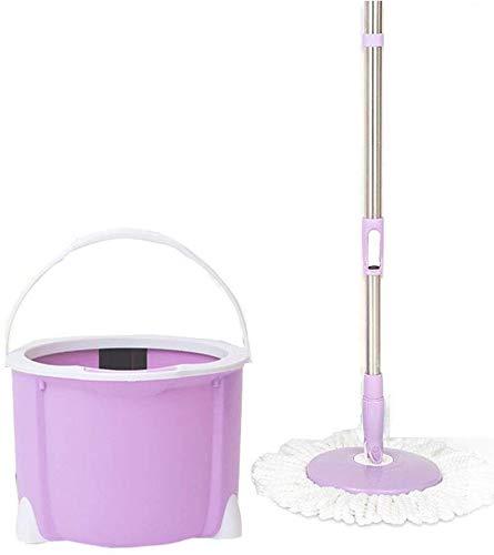 T-b mocio rotante per semplicità domestica a barile piccolo, pulizia domestica, lavaggio a mano, asciugatura automatica, testina di ricambio in confezione da 2